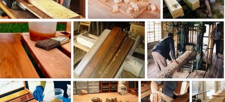 этапы обработки древесины